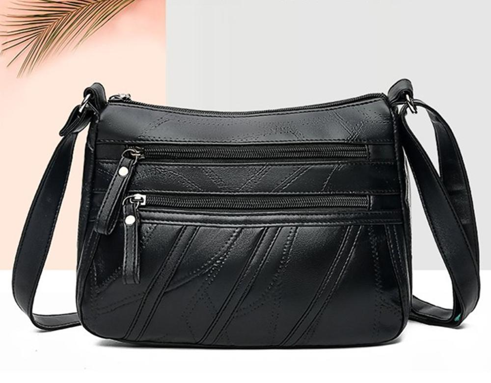 Women Genuine Leather Shoulder Bags Fashion Female Bags For Ladies Crossbody Bags Black Designer Handbag  2019 New
