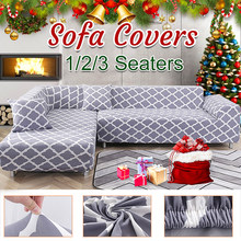 Elastic Sofa Cover Full Cover Slidable Stretch For Living Room Sofa Cover L-shaped Armchair Set Two/Three With a Pillowcase(China)