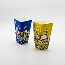 10PCS Popcorn Box Party Favors Kids Birthday Paper Boxes Wedding Yellow Blue Cup Children Bags Supplier