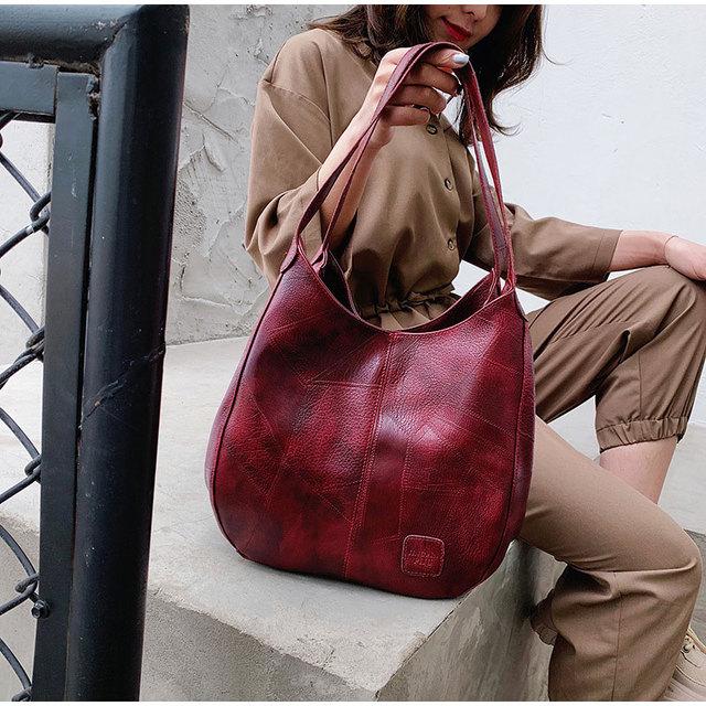 Vintage Women Hand Bag Designers Luxury Handbags Women Shoulder Bags Female Top-handle Bags Fashion Brand Handbag Bag Sac a Main 1