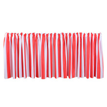 1PC Red and White Striped Table Skirt for Carnival Circus Party Wedding Birthday Home Decoration