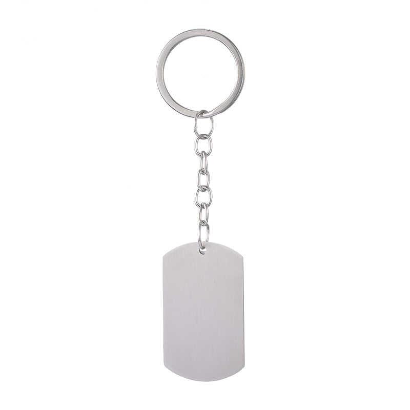 מותאם אישית DIY תג תמונה Keychain נירוסטה חקוק צילום Keychain קסם Keyring תכשיטי עבור אמהות אבות יום מתנה