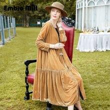 Женское длинное платье в стиле знаменитостей роскошное свободное