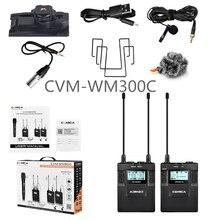 COMICA CVM-WM300C UHF 96 каналов металлические беспроводные ПЕТЛИЧНЫЕ подвесной микрофон с одним передатчиком и одним приемником