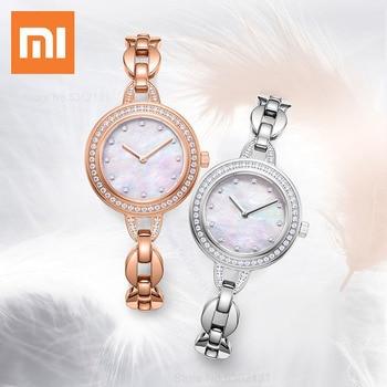Xiaomi Youpin Luxury Women Bracelet Watches Fashion Crystal Diamond Female Waterproof Clock Wristwatch For Ladies Quartz Watch 1