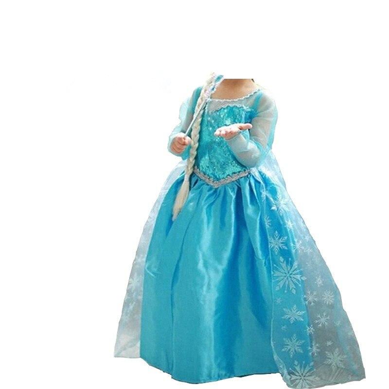 Платье принцессы на Хэллоуин для маленьких девочек; Одежда для девочек; Маскарадный костюм Эльзы; Рождественская вечеринка; Детское платье