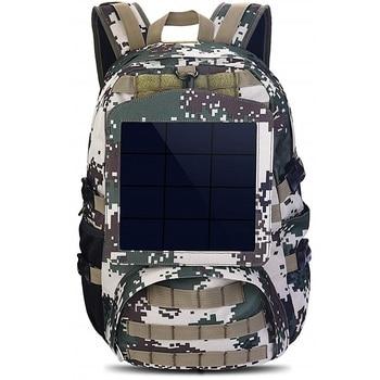 HOWO New Solar Backpacks for Men Large Travel Shoulder Bags Laptop Business Camouflage Sport Rucksack with Detachable Panel 3