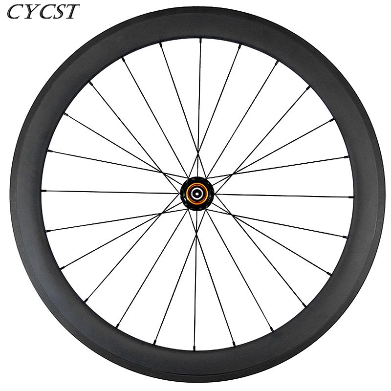 700c carbon rear <font><b>wheel</b></font> 60mmx23mm clincher basalt road <font><b>bike</b></font> <font><b>wheel</b></font> <font><b>6</b></font> pawl 10s 11s UD 3K 12K matte glossy aero <font><b>spoke</b></font> alloy nipple image