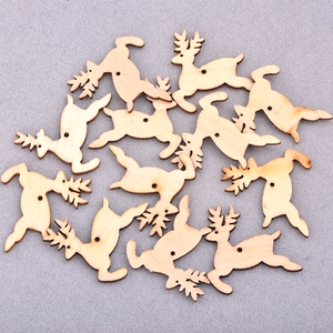 Image 3 - JUNAO 25 35mm Mix Shape Wooden Snowflakes Christmas Decoration for Home Xmas Hanging Ornaments Kids Gifts New Year Decorations