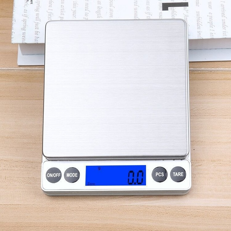 1KG/0.1g 2KG/0.1g Kitchen Electronic Scales Multi-function Baking Food Scales Ultra-precision Balance Scales Jewelry 0.1g