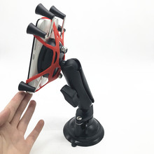 Car Window Twist Lock Suction Cup Mount + Ball Head Socket Arm + Universal X Grip Cell Phone Holder for smartphone