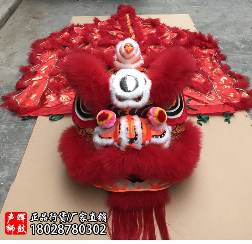 2019 Lion Dance Mascot Costumes Dance Outfit Stage Wool Hand Made AccessoriesInteresting Apparel Cartoon Character Clothes Gifts