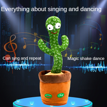 Lovely Talking Toy Dancing Cactus Doll Speak Talk Sound Record Repeat Toy Kawaii Cactus Toys Children Kids Education Game Gift