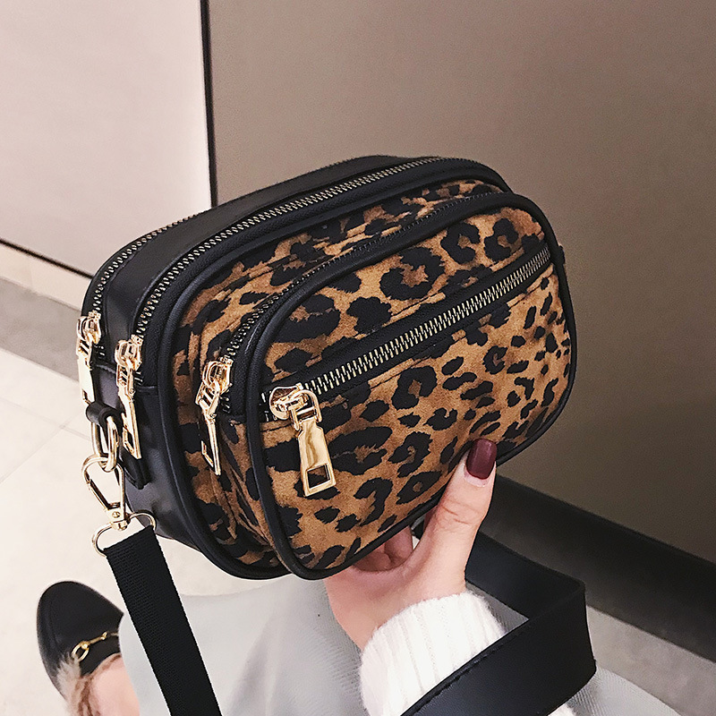 Women Famous Brand Fashion Mini Bag Crossbody Bag Small Handbags Leopard Women Leather & Scrub Shoulder Messenger Bags