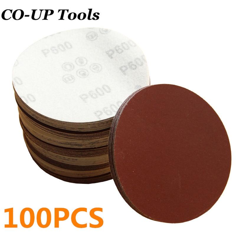 100pcs 3Inch 800Grit Sander Hook/&Loop Backed Flocking Sandpaper Polishing pad