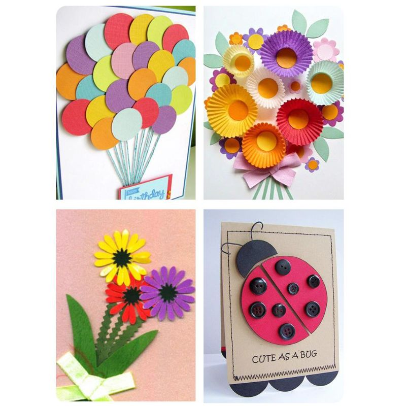 Medium DIY Embossing Card Paper Device Hole Punch Kids Handmade Craft Children Gift Manual Tool