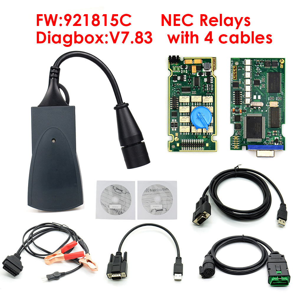 Lexia 3 PP2000 Chip completo Diagbox V7.83, con Firmware 921815C Lexia3 V48/V25 para cit-roen para Peu-obobdii, novedad de 2020