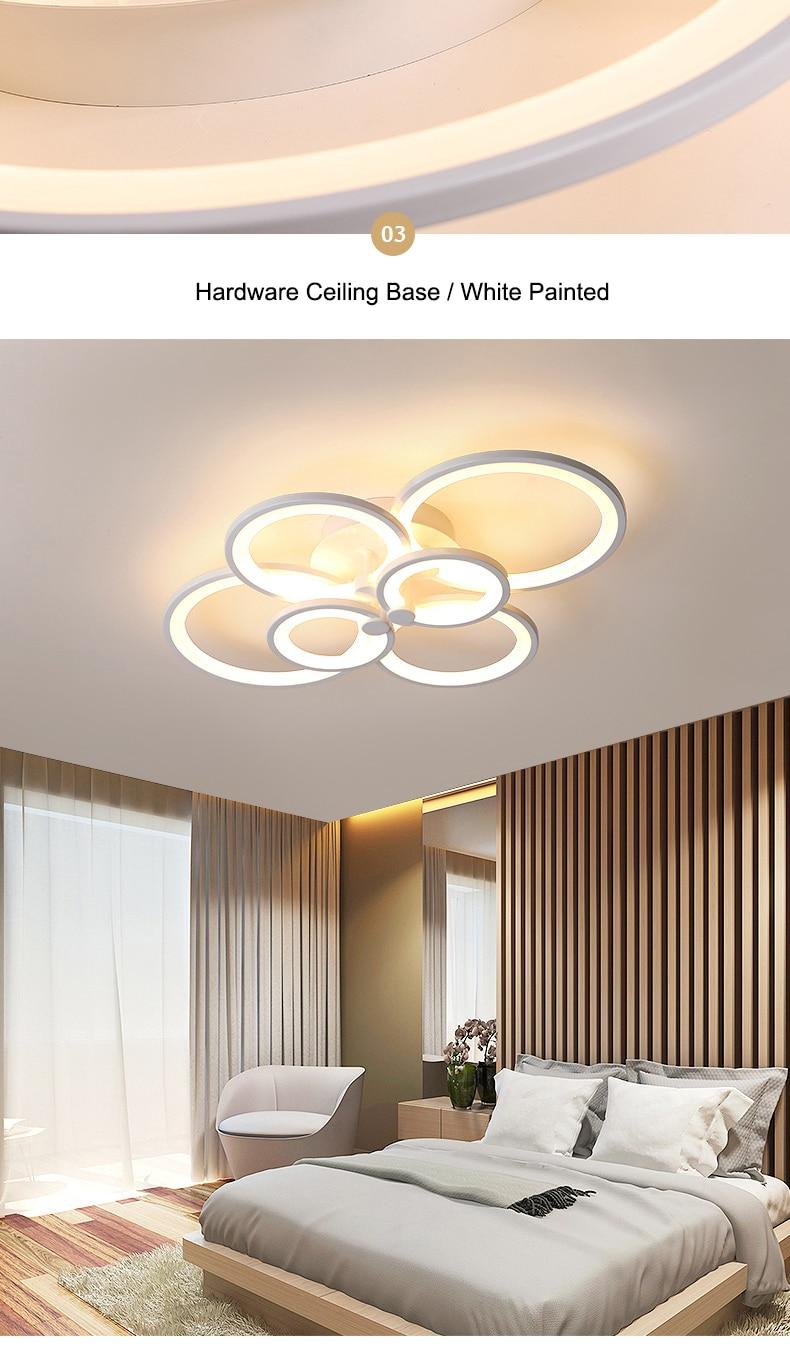 H8f7e0be83d784907adad9765071ccb89n NEO Gleam RC Modern Led ceiling lights for living room bedroom study room ceiling lamp plafondlamp White Color AC 110V 220V