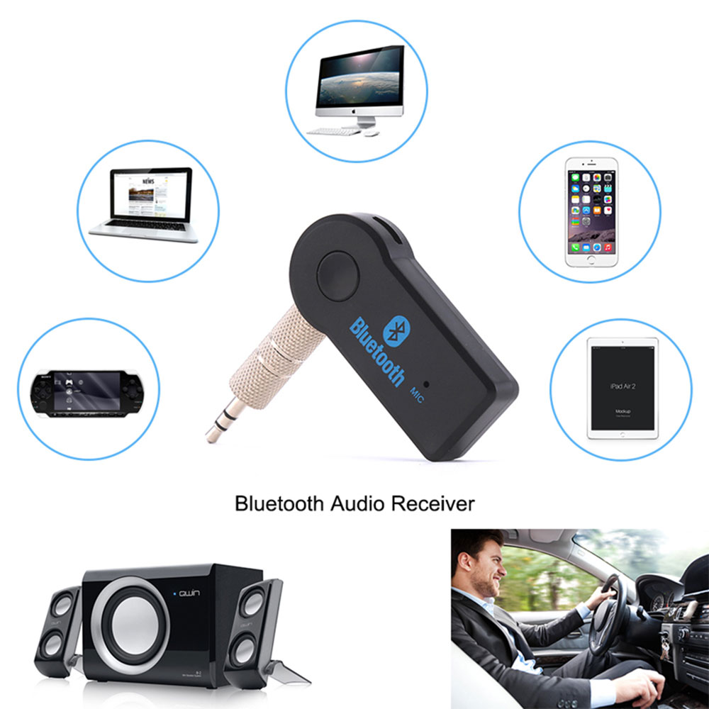 3.5MM AUX Audio Wireless Car bluetooth Audio Adapter Stereo Music Home Car Receiver Adapter for iphone MP3 Speaker Headphone MP4