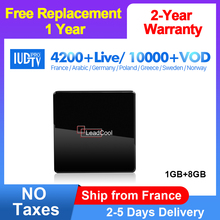 IPTV Italy Spain IUDTV Subscription Leadcool X Smart TV Box Android 7.1 UK Germany Sweden IPTV Box Portugal Greek India IP TV все цены