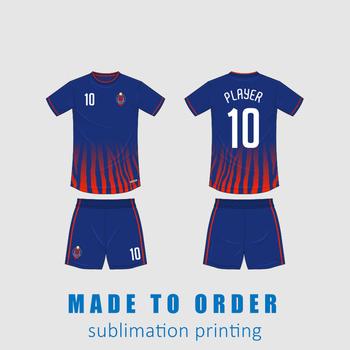 Cała sublimacja na zamówienie spersonalizowana na zamówienie Uniform dla drużyny sportowej koszulka piłkarska dla dzieci tanie i dobre opinie Pasuje prawda na wymiar weź swój normalny rozmiar CN (pochodzenie) Poliester Krótki