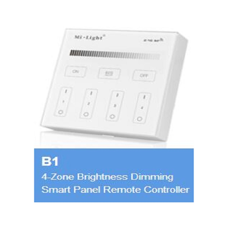 Milight 2.4GHz Wireless Touch Panel Controller LED Smart Remote Controller B1 B2 B3 B4 4 Zone RGBW RGB + CCT Brightness Dimming|RGB Controlers| |  - title=
