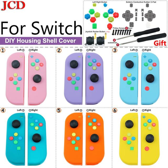 JCD DIY Replacement Cover Housing Shell for Nintend for Switch for Joy Con Controller with Screwdriver Joystick Rocker Button