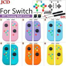 Сменная Крышка корпуса JCD для Nintendo for Switch for Joy Con Controller с отверткой, джойстиком и клавишной кнопкой