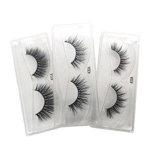 Image 3 - 10 paires de cils de vison en gros maquillage doux réel 3d cils de vison en vrac naturel faux cils moelleux croix cils extension