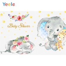 Yeele Flower Elephant Backdrop Newborn Baby Shower Children Birthday Party Photography Background For Photo Studio Photophone