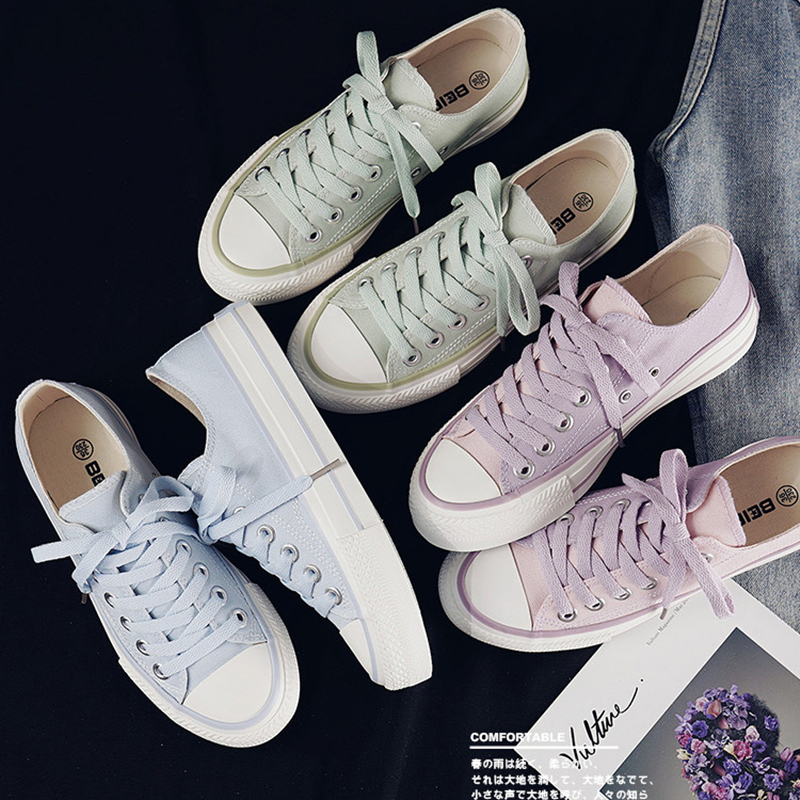 Women's Fashion Shoes 2020 Summer Woman Sneakers New Casual Color Retro Classic Style Leisure Flats Canvas Shoes Female Sneakers