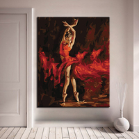 Shadow Dancer DIY Painting By Numbers Kits Calligraphy Painting Acrylic Paint By Number For Home Decoration A work of art