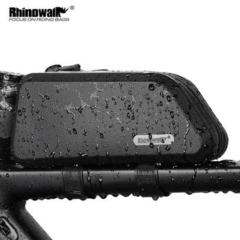 Rhinowalk 1 5L wodoodporna górna rura torba na rower twarda osłona torba na rower stabilna rowerowa torebka na ramę akcesoria rowerowe na rower szosowy tanie i dobre opinie CN (pochodzenie) Waterproof bike frame bag bike top frame bag bike bag