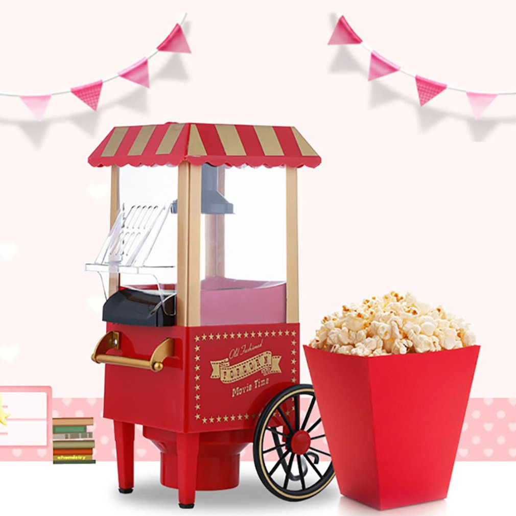 Classic Car Popcorn Machine Mini Small Popcorn Machine Blow-Type Popcorn Machine Household Electric Popcorn Machine