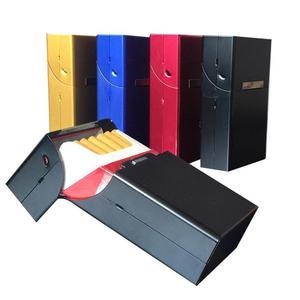 1PC Smoking Cigarettes Aluminum Cigarette Case Cigar packs of tobacco cigarettes Box Storage Container Man Gift sigara tabakasi(China)