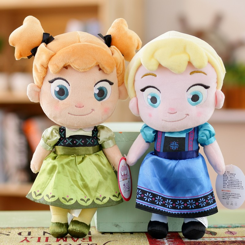 30CM Disney Plush Toys Frozen Princess Anna Elsa Snow Queen Cute Doll Plush Soft Stuffed Toys Brinquedos For Children Girl Gifts