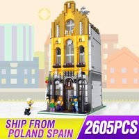 Lepining 10190 Creative City commercial street view Ice cream Parlor shop House model Building Block bricks Kits Brick Toy gifts