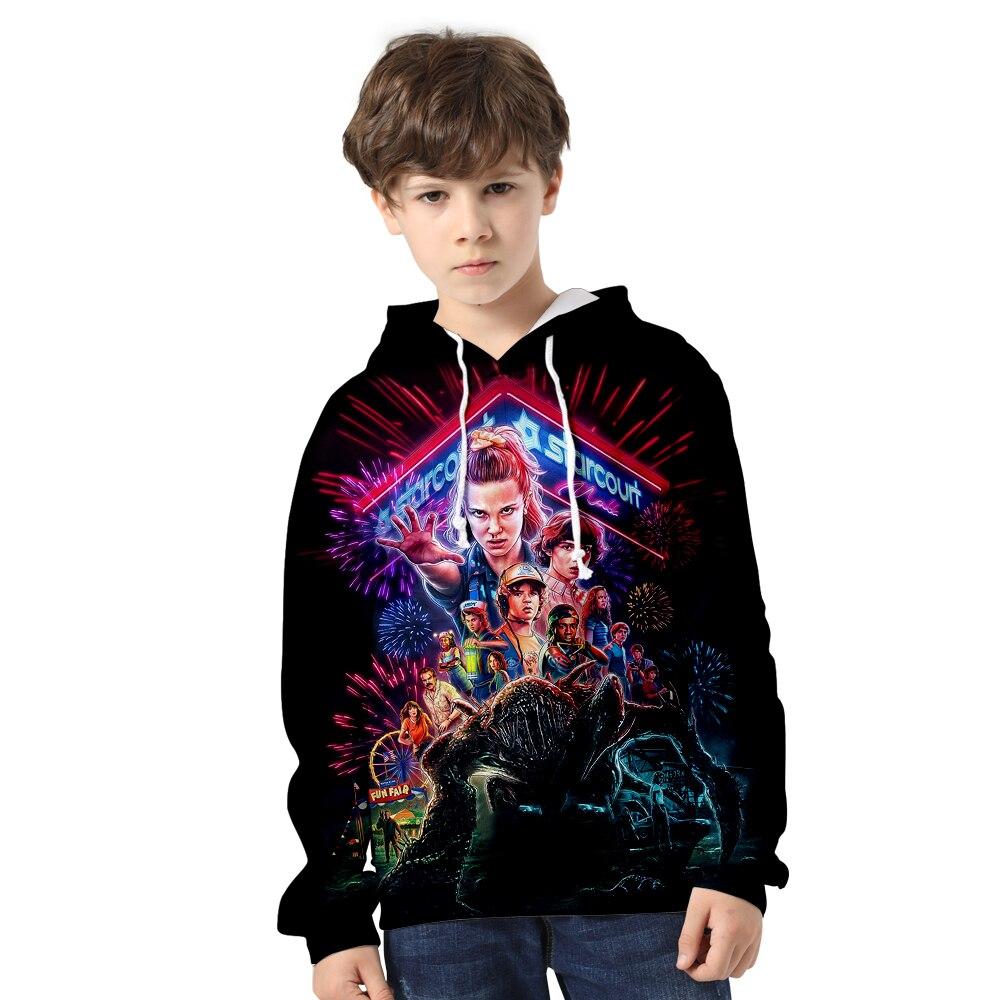 Frdun Tommy TV Series Stranger Things 3D Print Hooded Sweatshirt Boy/girl Casual Clothes Children Hoodies Children's Clothing
