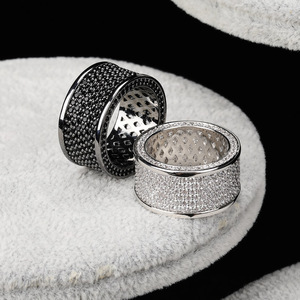 Image 2 - TOPGRILLZ Micro Pave Iced Out Bling AAA+ Cubic Zircon Round Rings Hip Hop Rock Jewelry Copper Material Ring For Man Women
