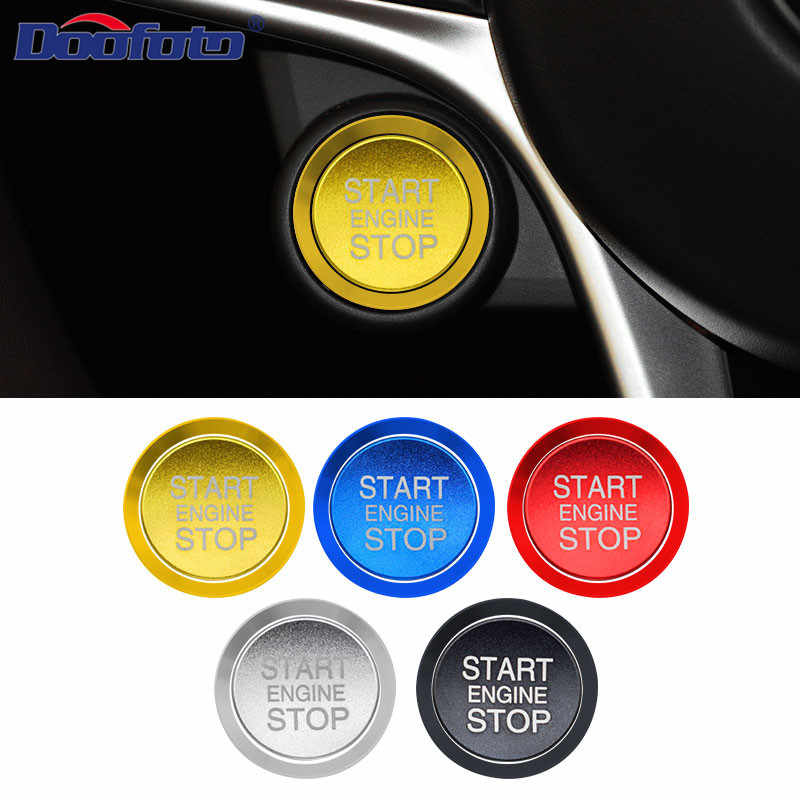 Doofoto For Alfa Romeo Start Stop Engine Button Cover Ring Start Button Case Shell Styling Car interior Sticker Accessories