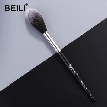 BEILI 1 piece Black Professional Synthetic Makeup brushes Highlighter Blending Blush Eyebrow Eyeliner make up brushes 1