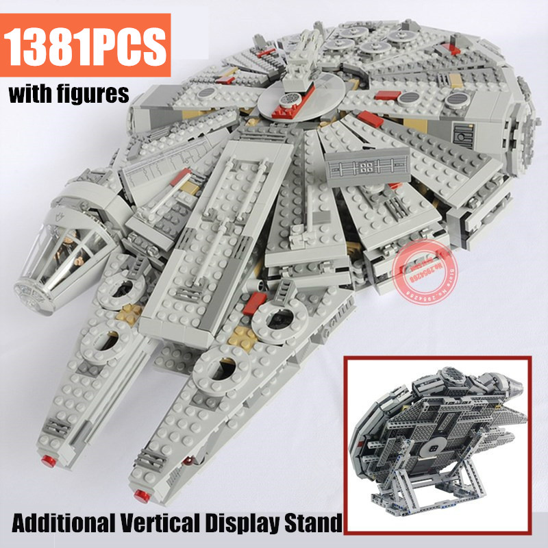 New 1381PCS Force Awakens Display Fit Legoings Star Wars Figures Technic Falcon 75105 Building Blocks Bricks Gift Kid Toys image