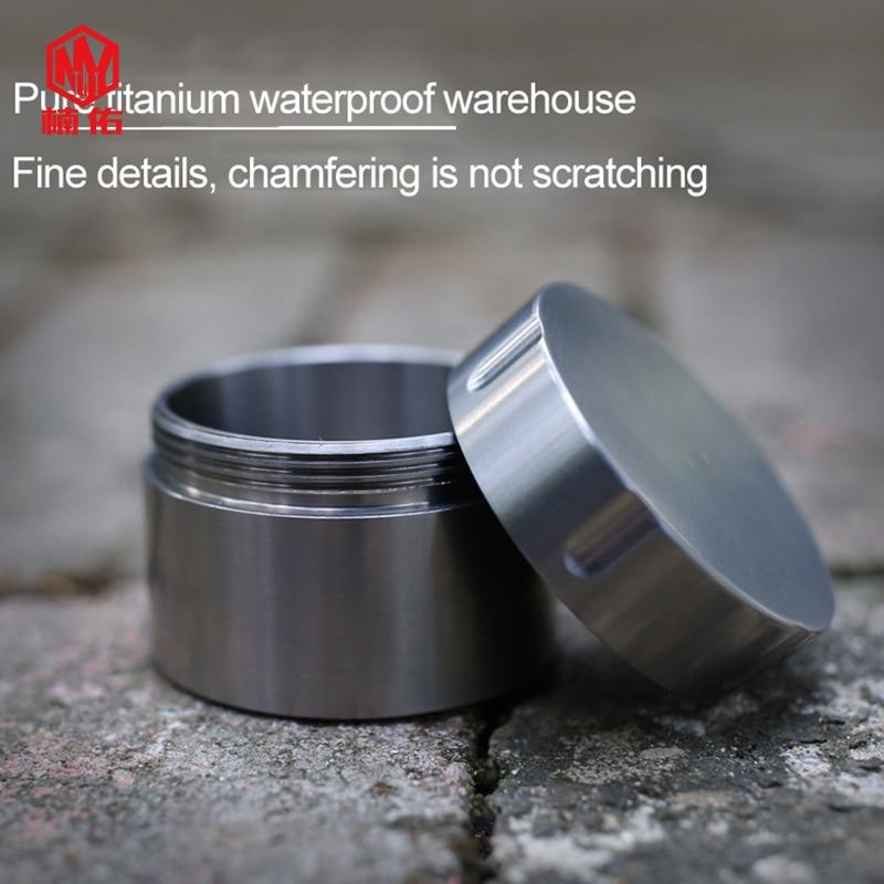 New Waterproof Aluminium Pill Tablet Pot Canister Stash Keyring Camping Fishing