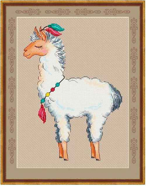 Proud alpaca cross stitch kit Animalcotton thread 18ct 14ct 11ct linen flaxen canvas stitching embroidery DIY