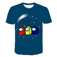 Novo jogo entre nós meninos camiseta meninas t camisa kawaii verão crianças topos dos desenhos animados gráficos t engraçado harajuku crianças tshirt