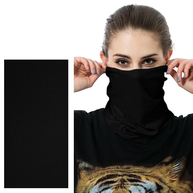 Buffe Custom Bandana Headband Solid Color Unisex Magic Tube Seamless Bandanas Cycling Face Mask Shield Head Scarf Neck Gaiter