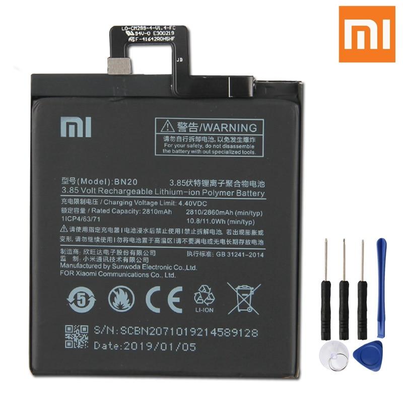 Xiao Mi Original Replacement Phone Battery BN20 For Xiaomi 5C M5C Authenic Rechargeable 2860mAh