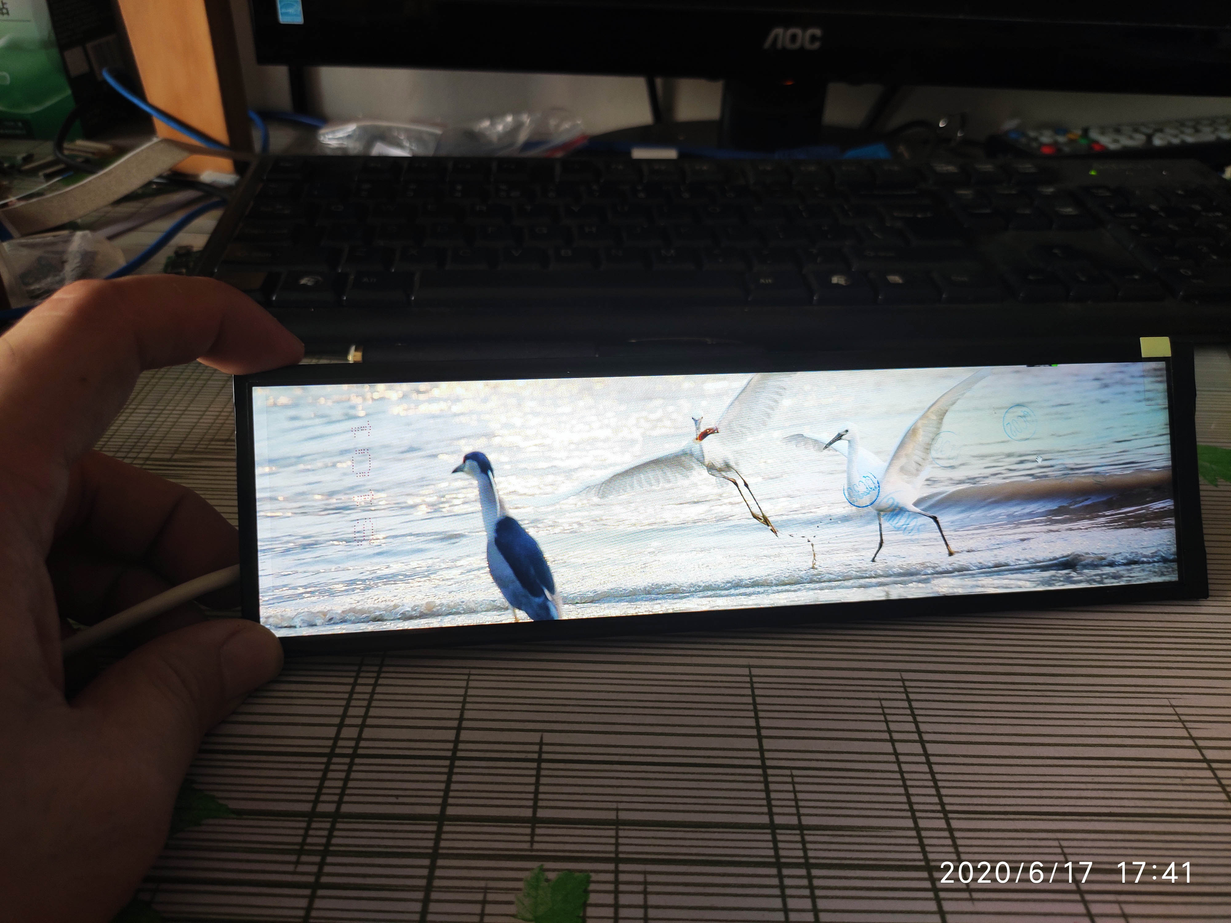 8.8 polegada ips longa faixa de exibição esticada barra hdmi para mipi aida64 monitor usb 5v energia segundo display magro 1920*480