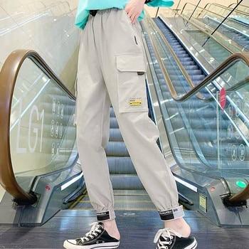 Black Cargo Pants Women Plus Size Khaki Pockets Korean Style Trousers Baggy Sweatpants Spodnie Damskie Ropa De Mujer Pantalones недорого