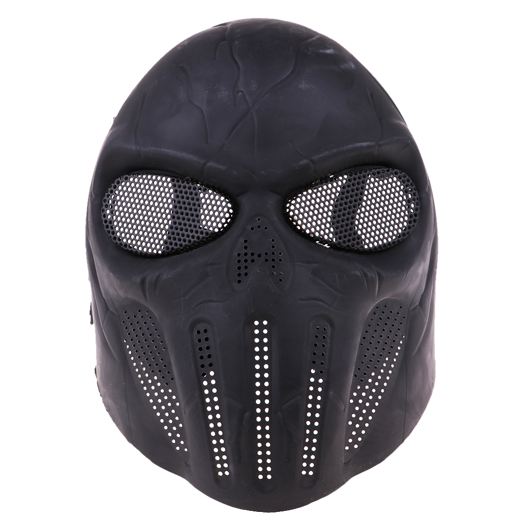 Outdoor Wargame Paintball Face Protection Skull Skeleton Mask, 10.24 X 7.28inch